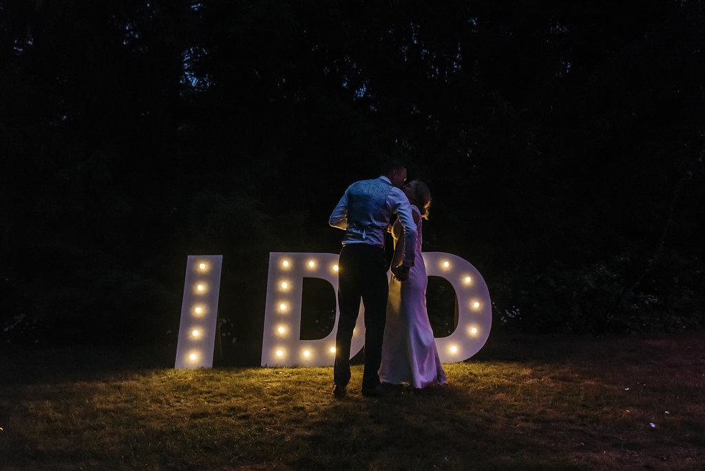 Snoeptafel op bruiloft