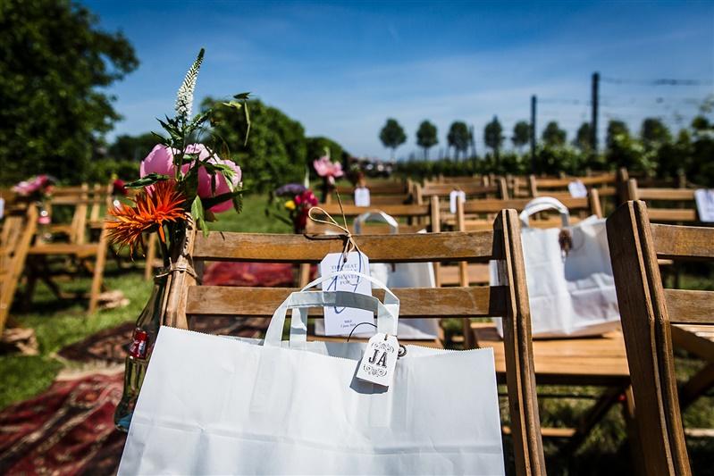 Bruiloft decoratie styling buiten