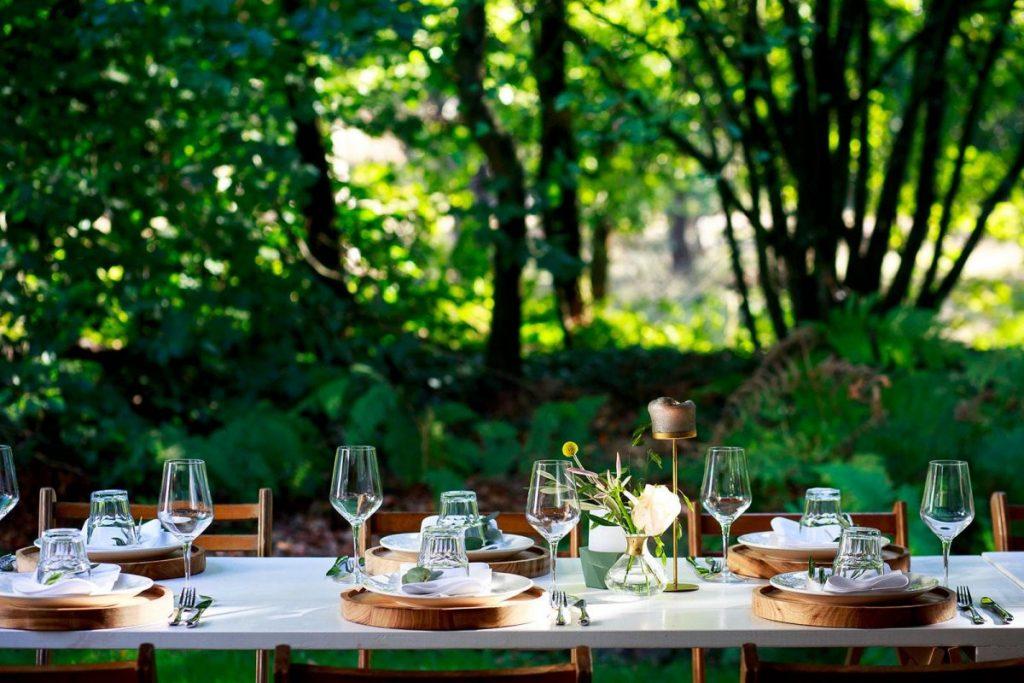 Trouwen in het bos tafelstyling
