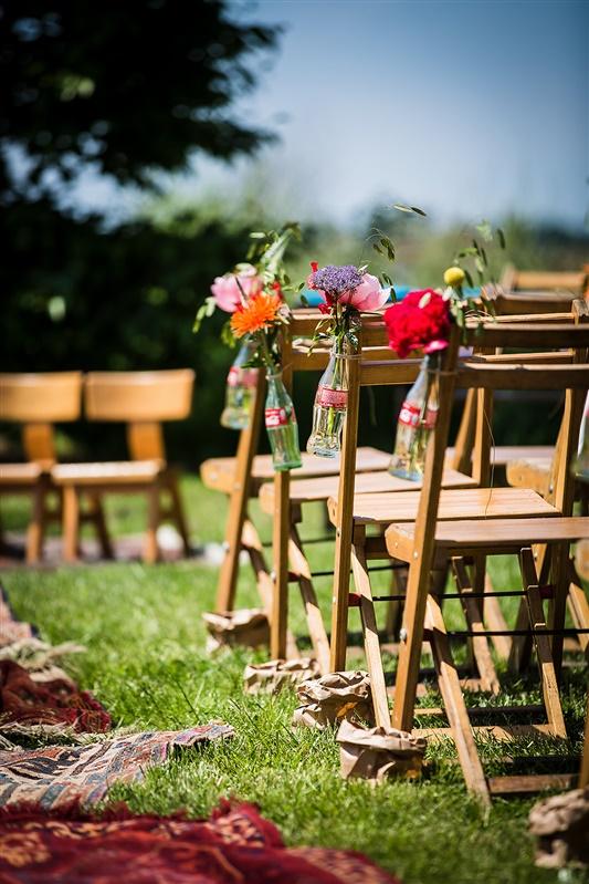 Bruiloft decoratie buiten
